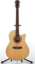 Musical Instruments:Acoustic Guitars, 2000s Ibanez AEF18-NT-OP-01 Natural Electric Acoustic Guitar,#E00100405....