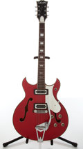 Musical Instruments:Electric Guitars, Circa 1970 Silvertone Blues Master Red Electric Guitar.#319.14608....