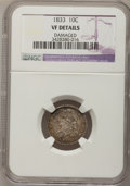 Bust Dimes: , 1833 10C --Damaged--NGC Details. VF. NGC Census: (2/256). PCGSPopulation (7/302). Mintage: 485,000. Numismedia Wsl. Price f...