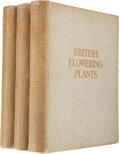 Books:Natural History Books & Prints, [Mrs. Henry Perrin, illustrator]. Professor Boulger. British Flowering Plants.... (Total: 3 Items)