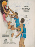 Basketball Collectibles:Programs, 1968 Lew Alcindor Signed UCLA Bruins Game Program....