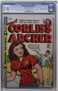 "Golden Age (1938-1955):Humor, Meet Corliss Archer #1 Davis Crippen (""D"" Copy) pedigree (Fox, 1948) CGC FN/VF 7.0 Cream to off-white pages...."