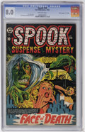 "Golden Age (1938-1955):Horror, Spook #26 Davis Crippen (""D"" Copy) pedigree (Star Publications,1953) CGC VF 8.0 Off-white pages...."