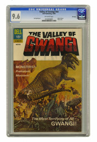 Valley of Gwangi #nn File Copy (Dell, 1969) CGC NM+ 9.6 Off-white pages. Photo cover. Jack Sparling art. Overstreet 2004...