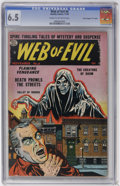 """Golden Age (1938-1955):Horror, Web of Evil #8 Davis Crippen (""""D"""" Copy) pedigree (Quality, 1953)CGC FN+ 6.5 Cream to off-white pages...."""