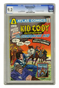 Golden Age (1938-1955):Western, Western Action #1 (Atlas-Seaboard, 1975) CGC NM- 9.2 White pages. Kid Cody and Comanche Kid stories. First appearance of the...