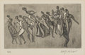 Prints:European Modern, DOLF RIESER (South African, 1893-1983). Dance I, 1922.Etching. 5-1/4in. x 7in.. Signed in pencil at lower right Dolf...