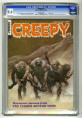 Magazines:Horror, Creepy #15 (Warren, 1967) CGC NM 9.4 Off-white pages. Classic cover. 16-page time travel story with Neal Adams art. Frank Fr...