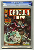 Bronze Age (1970-1979):Horror, Dracula Lives! #4 (Marvel, 1974) CGC NM 9.4 Off-white to whitepages. ...