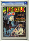 Bronze Age (1970-1979):Horror, Dracula Lives! #5 (Marvel, 1974) CGC NM 9.4 White pages. BramStoker adaptation begins. Luis Dominguez cover. Gene Colan, Di...