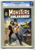 Bronze Age (1970-1979):Horror, Monsters Unleashed #2 (Marvel, 1973) CGC NM- 9.2 Cream to off-whitepages. Boris Vallejo cover. Boris Karloff article and ph...