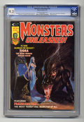 Bronze Age (1970-1979):Horror, Monsters Unleashed #10 (Marvel, 1975) CGC NM- 9.2 Off-white towhite pages. Origin of Tigra. Frankenstein story. Jad cover. ...