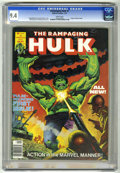 Magazines:Superhero, The Rampaging Hulk #1 (Marvel, 1977) CGC NM 9.4 White pages. ...