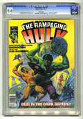 Magazines:Superhero, The Rampaging Hulk #6 (Marvel, 1977) CGC NM 9.4 White pages. Hulkvs. Sub-Mariner. Ken Barr cover. Al Milgrom frontispiece. ...