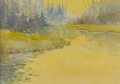 Fine Art - Painting, American:Modern  (1900 1949)  , FRANK TOWNSEND HUTCHENS A.N.A. (American, 1869-1937). BeaverBrook at Sunset. Watercolor on paper. 9-1/2in. x 13in.. Mon...