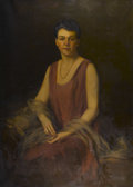 Fine Art - Painting, European:Modern  (1900 1949)  , ARTUR LAJOS HALMI (Hungarian, 1866-1939). Portrait of aLady, 1928. Oil on canvas. 50in. x 36in.. Signed and dated atlo... (Total: 1 Item)