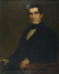 Fine Art - Painting, American:Other , AMERICAN SCHOOL. Portrait of a Gentleman, 1853. Oil oncanvas. 36in. x 29in.. Initialed at lower left H.N.. ...(Total: 1 Item)