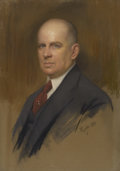 Fine Art - Painting, European:Modern  (1900 1949)  , EDMUND PIZZELLA (Italian/American, 1868-1941). Portrait of a Gentleman. Pastel on paper laid on canvas. 32-1/4in. x 22-1... (Total: 1 Item)