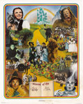 """Movie/TV Memorabilia:Autographs and Signed Items, Jack Haley and Ray Bolger Signed """"Wizard of Oz"""" Poster (1977). A24"""" x 30"""" lithograph, number 1,843 in a limited series of 2...(Total: 1 Item)"""