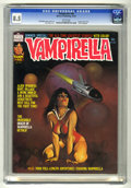 Bronze Age (1970-1979):Horror, Vampirella #46 (Warren, 1975) CGC VF+ 8.5 White pages. 1975yearbook. Reprints origin. Eight-page color story. Ken Kelly cov...