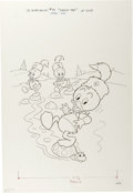 Original Comic Art:Covers, Huey, Dewey, and Louie Junior Woodchucks #75 Cover Original Art(Whitman, 1983)....