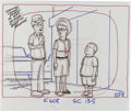 "Animation Art:Production Drawing, ""King of the Hill"" - Hank, Peggy, and Bobby Hill, Bill Dauterive,and Dale Gribble Animation Production Drawing Original Art, ...(Total: 5)"