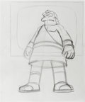 "Animation Art:Production Drawing, ""The Simpsons"" - Nelson Muntz and Lenny Animation Drawing OriginalArt, Group of 5 (Fox, 1998-2001).... (Total: 5)"