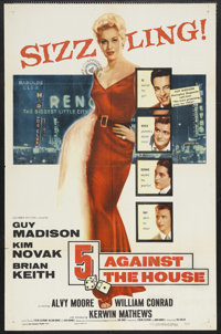 "5 Against the House (Columbia, 1955). One Sheet (27"" X 41""). Film Noir. Starring Guy Madison, Kim Novak, Brian..."