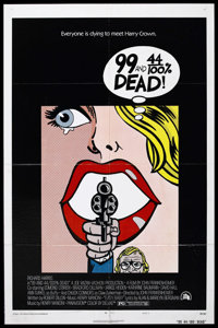"99 and 44/100% Dead (20th Century Fox, 1974). One Sheet (27"" X 41""). Gangster. Starring Richard Harris, Edmond..."