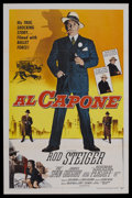 """Movie Posters:Crime, Al Capone (Allied Artists, 1959). One Sheet (27"""" X 41""""). Crime. Starring Rod Steiger, Fay Spain, Martin Balsam and Nehemiah ..."""