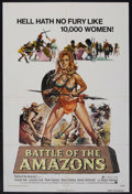 "Movie Posters:Action, Battle of the Amazons (American International Pictures, 1973). One Sheet (27"" X 41""). Adventure. Starring Lincoln Tate, Lucr..."