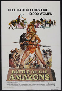 "Battle of the Amazons (American International Pictures, 1973). One Sheet (27"" X 41""). Adventure. Starring Linc..."