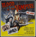 "Movie Posters:Horror, Blood of the Vampire (Universal International, 1958). Six Sheet(81"" X 81""). Horror. Starring Donald Wolfit, Vincent Ball, B..."