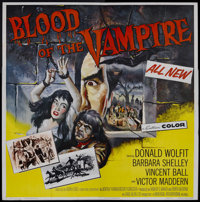 "Blood of the Vampire (Universal International, 1958). Six Sheet (81"" X 81""). Horror. Starring Donald Wolfit, V..."