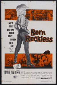 """Born Reckless (Warner Brothers, 1959). One Sheet (27"""" X 41""""). Bad Girl"""