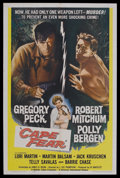 "Movie Posters:Crime, Cape Fear (Universal, 1962). One Sheet (27"" X 41""). Crime Thriller.Starring Gregory Peck, Robert Mitchum, Polly Bergen, Lor..."