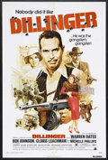 "Movie Posters:Crime, Dillinger (American International Pictures, 1973). One Sheet (27"" X 41""). Crime. Starring Warren Oates, Ben Johnson, Michell..."