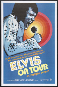 "Elvis on Tour (MGM, 1972). One Sheet (27"" X 41""). Musical Documentary. Starring Elvis Presley and his entourag..."