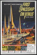 "Movie Posters:Science Fiction, First Spaceship on Venus (Crown-International, 1962). One Sheet(27"" X 41""). Science Fiction. Starring Yoko Tani, Oldrich Lu..."