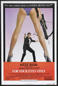 "Movie Posters:James Bond, For Your Eyes Only (United Artists, 1981). One Sheet (27"" X 41"").James Bond Thriller. Starring Roger Moore, Carole Bouquet,..."
