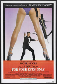 """For Your Eyes Only (United Artists, 1981). One Sheet (27"""" X 41""""). James Bond Thriller. Starring Roger Moore, C..."""