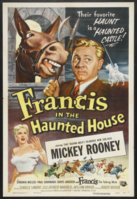 """Francis in the Haunted House (Universal International, 1956). One Sheet (27"""" X 41""""). Comedy. Starring Mickey R..."""
