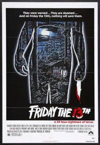 "Friday the 13th (Paramount, 1980). One Sheet (27"" X 41""). Horror. Starring Betsy Palmer, Adrienne King, Harry..."