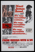 "Movie Posters:James Bond, From Russia With Love (United Artists, 1964). One Sheet (27"" X 41"")Style B. James Bond Thriller. Starring Sean Connery, Rob..."