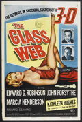 "Movie Posters:Crime, The Glass Web (MCA/Universal, 1953). One Sheet (27"" X 41""). Crime.Starring Edward G. Robinson, John Forsythe, Kathleen Hugh..."