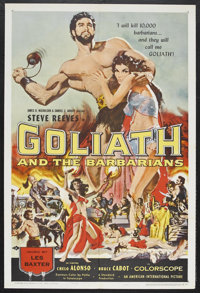 """Goliath and the Barbarians (American International, 1959). One Sheet (27"""" X 41""""). Adventure. Starring Steve Re..."""