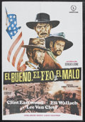Movie Posters:Western, The Good, The Bad and the Ugly, The (United Artists, 1968). SpanishOne Sheet (26 x 38). Western. Starring Clint Eastwood, E...