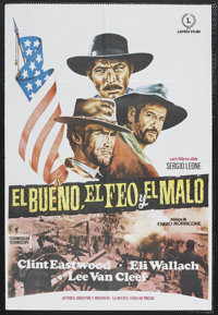 The Good, The Bad and the Ugly, The (United Artists, 1968). Spanish One Sheet (26 x 38). Western. Starring Clint Eastwoo...