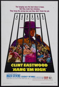 "Hang 'Em High (United Artists, 1968). One Sheet (27"" X 41""). Western. Starring Clint Eastwood, Inger Stevens..."