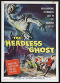 "Movie Posters:Horror, The Headless Ghost (American International, 1959). One Sheet (27"" X 41""). Horror Comedy. Starring Richard Lyon, Liliane Sott..."